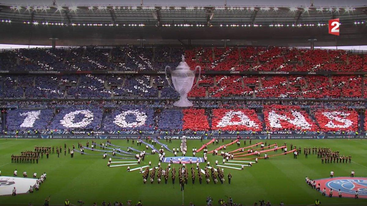 Le tifo au stade de france pour la 100e dition de la coupe de france - Stade de france coupe de france ...