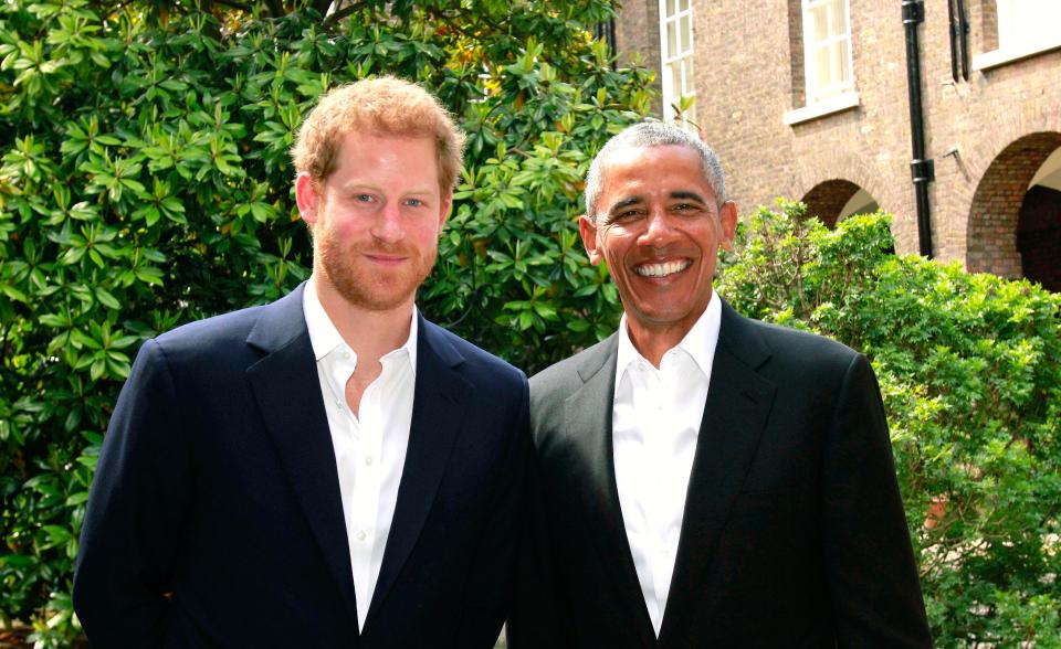 Prince Harry and Barack Obama meet to discuss mental health and Manchester bombing at Kensington Palace
