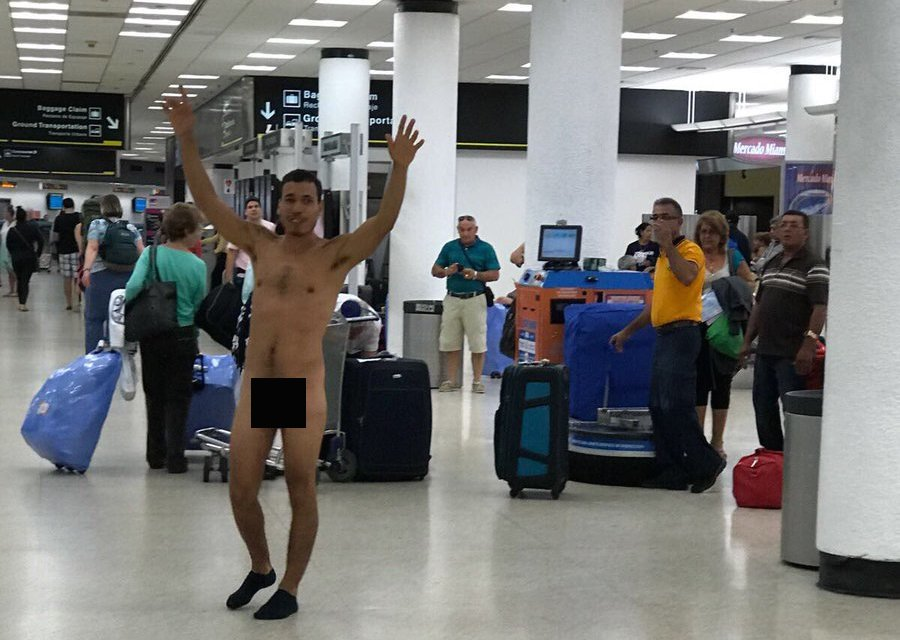 Naked at the airport #9
