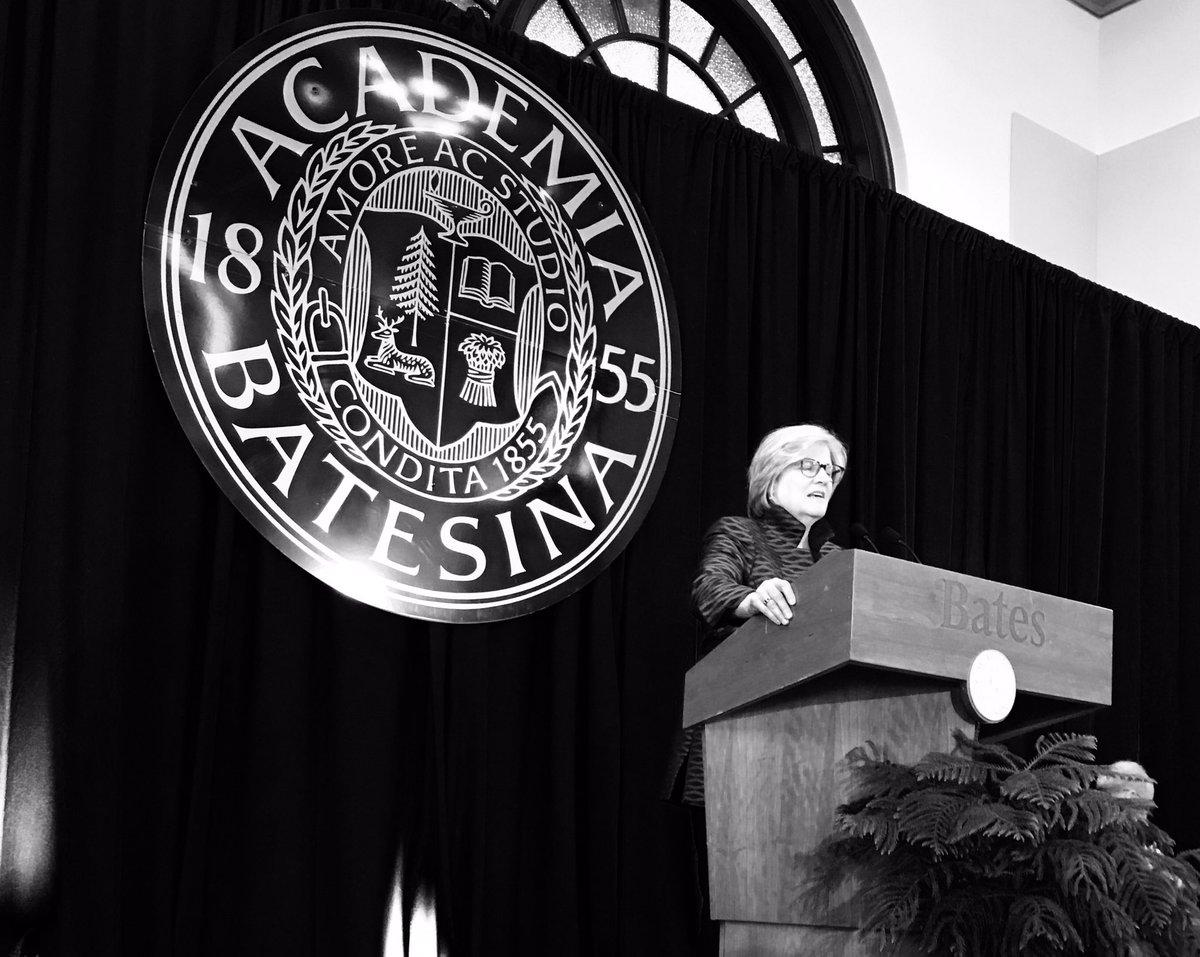 The president of @BatesCollege @ClaytonAtBates I enjoyed her wonderful, dry sense of humor. https://t.co/Vk7jGFWoLL