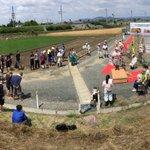 おはようございます!本日は、小山市の田んぼアート田植え体験の取材に来ています!こちら、美田会場の今年のイラストはなんと!