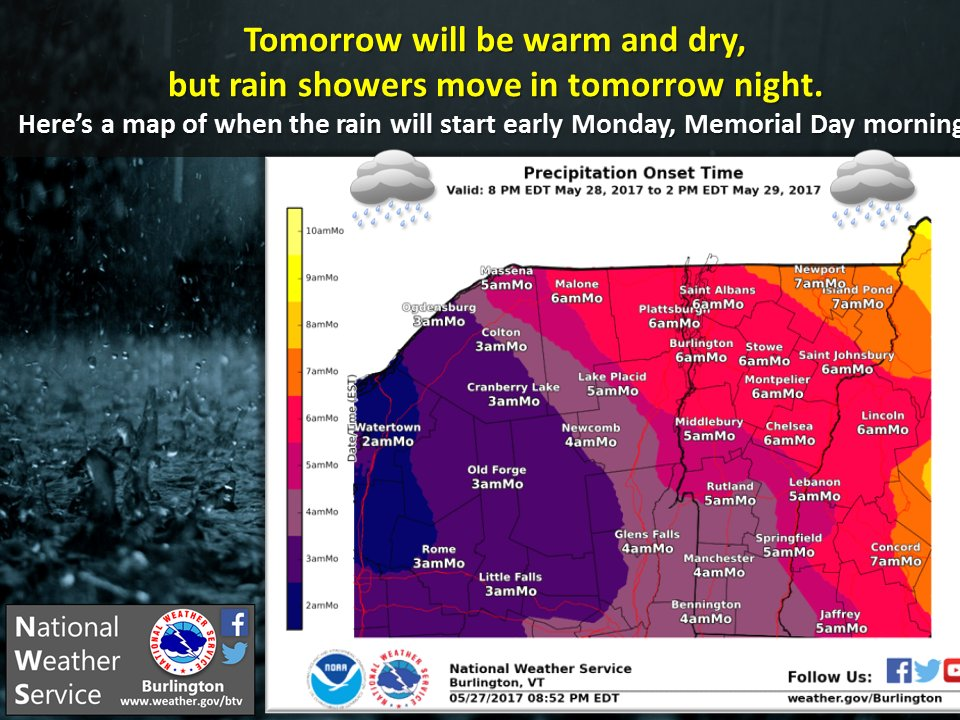 test Twitter Media - Enjoy tomorrow since it will be the last fully dry day for awhile. #Rain moves in tomorrow night and Monday. #vtwx #nywx https://t.co/SToHDNUPv2