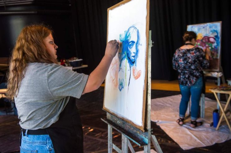 At Impulse Festival, artists paint in time to the music
