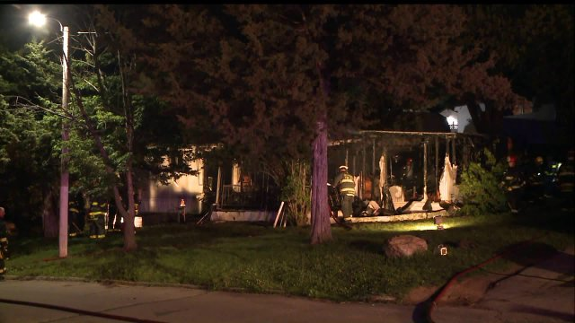 Fire Destroys Des Moines Trailer on Friday Night