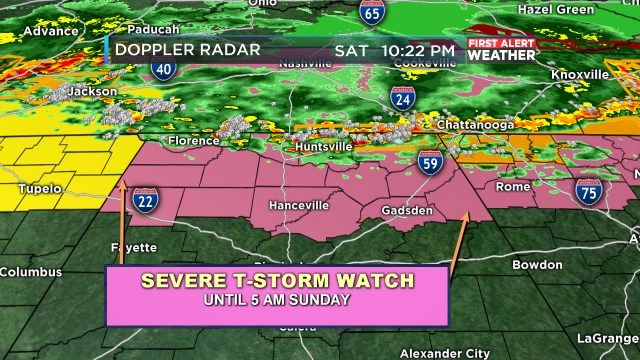 FIRST ALERT UPDATE: Be alert for possible strong to severe storms overnight