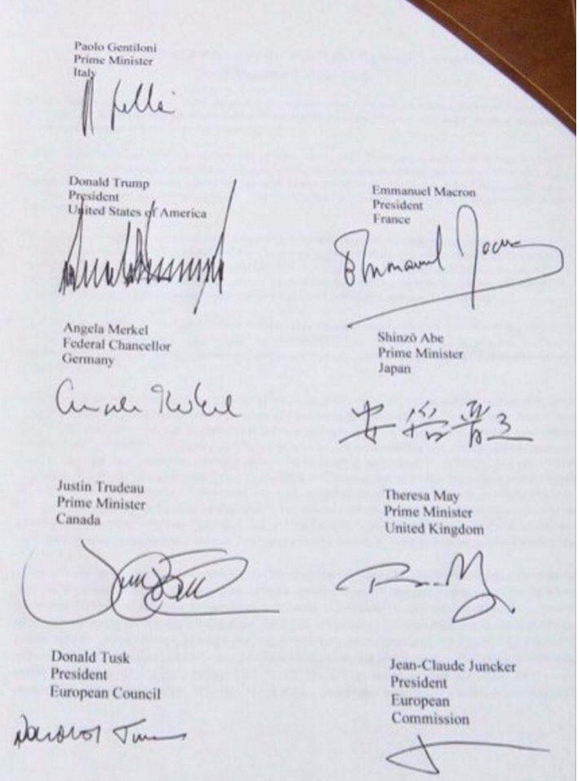 #G7taormina