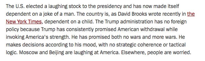 Major German newspaper's take on Donald Trump. The world is laughing at us: https://t.co/kwyYsSZ2Bg https://t.co/QXAHyktIpZ