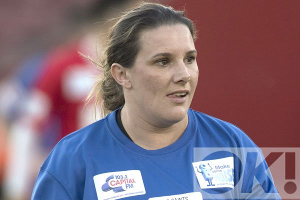 From X Factor winner to football player? See @SamBaileyREAL as you've never seen her before