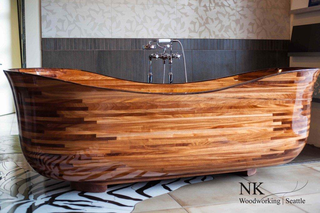 RT @Distinctboxes: Fabulous Wooden bathtub by NK Woodworking. https://t.co/lVjL5RSzta