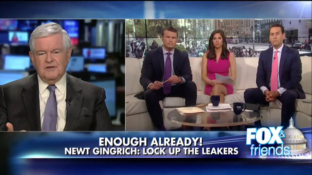 ".@newtgingrich ""You start putting a few people in jail, you'll see the leaks dry up dramatically."""