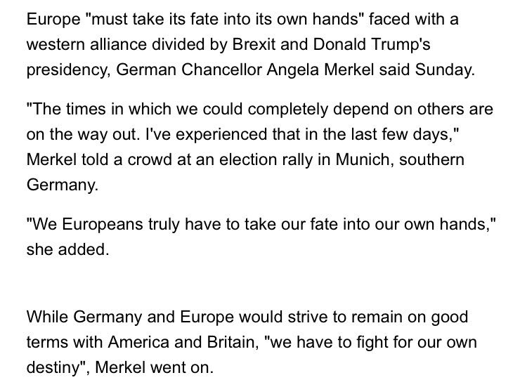 After meet with Trump this is what Angela Merkel said. Good god. https://t.co/sUaEnV72EV https://t.co/Wm1yQf4AcC
