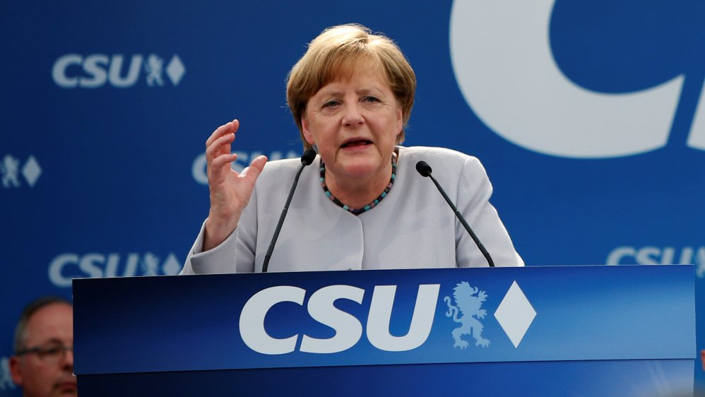German Chancellor Angela Merkel says EU cannnot 'fully' rely on the US or UK