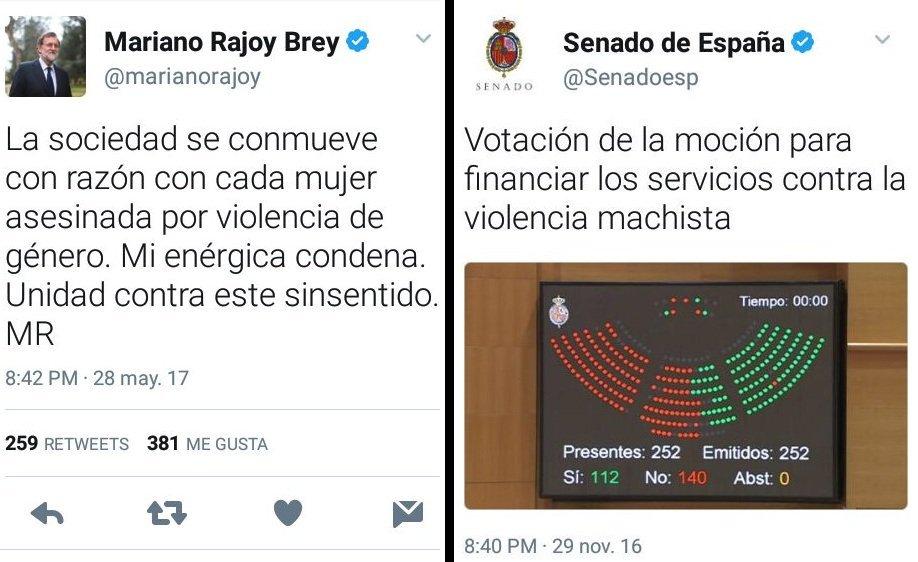 Rajoy, el PP y su hipocresía con la violencia de género https://t.co/xyRJIws3Cm