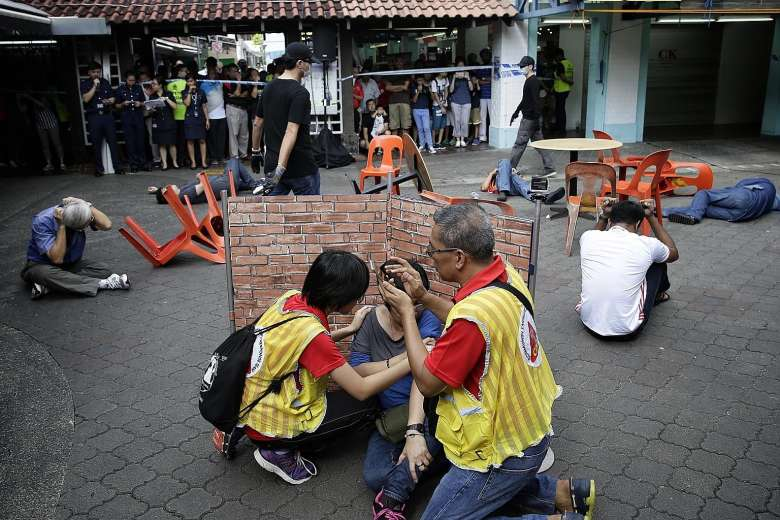 Yishun residents learn how to respond to terror attack