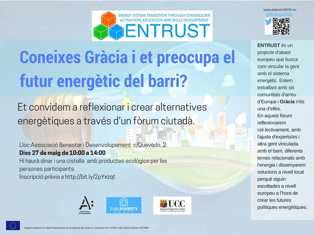 provar Twitter Mitjans - 💡🔌 Coneixes Gràcia i et preocupa el futur energètic del barri? Vine el pròxim diss 27 a les 10h a #ABD cc @Energia_Justa https://t.co/slwTCcskNe
