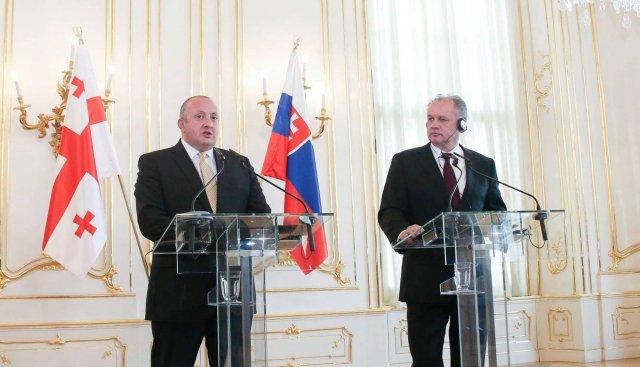 President Kiska: Slovakia Firmly Supports Georgia's Membership to NATO