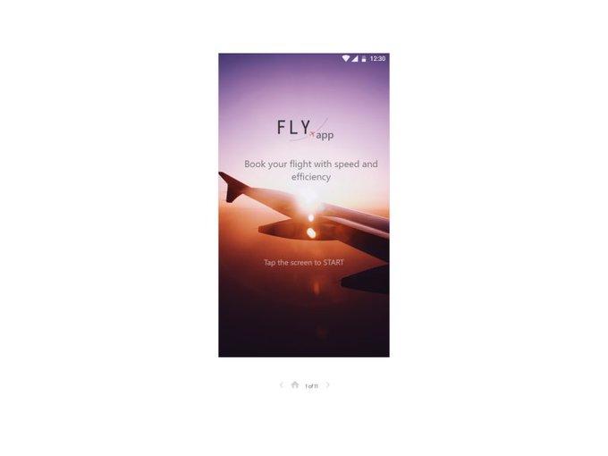 UpLabas  Flight Booking Challenge   Ui kit by luka lenard freebie
