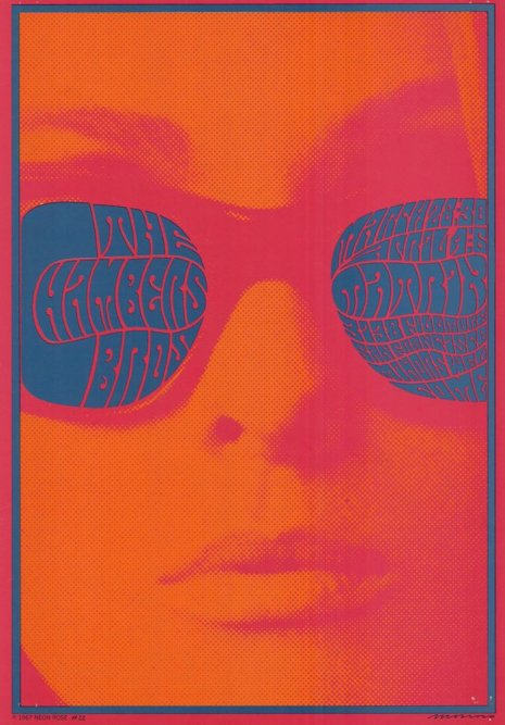 The Chambers Brothers: Victor Moscoso's poster for a Chambers Bros gig at the Matrix, 1967. https://t.co/egcXW45UD6