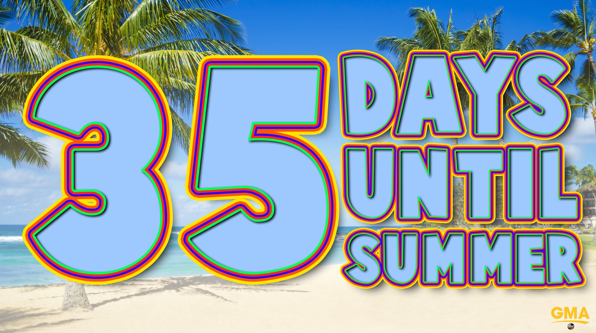 35 days until SUMMER! �� ☀️ https://t.co/ApVRgqVCb1