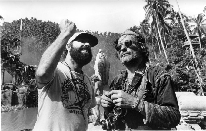 Happy birthday too to Dennis Hopper.  Here with Francis Ford Coppola on the set of Apocalypse Now.