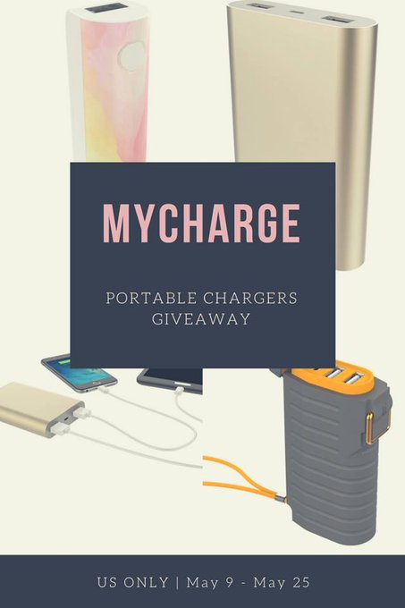 myCharge Portable Chargers Giveaway