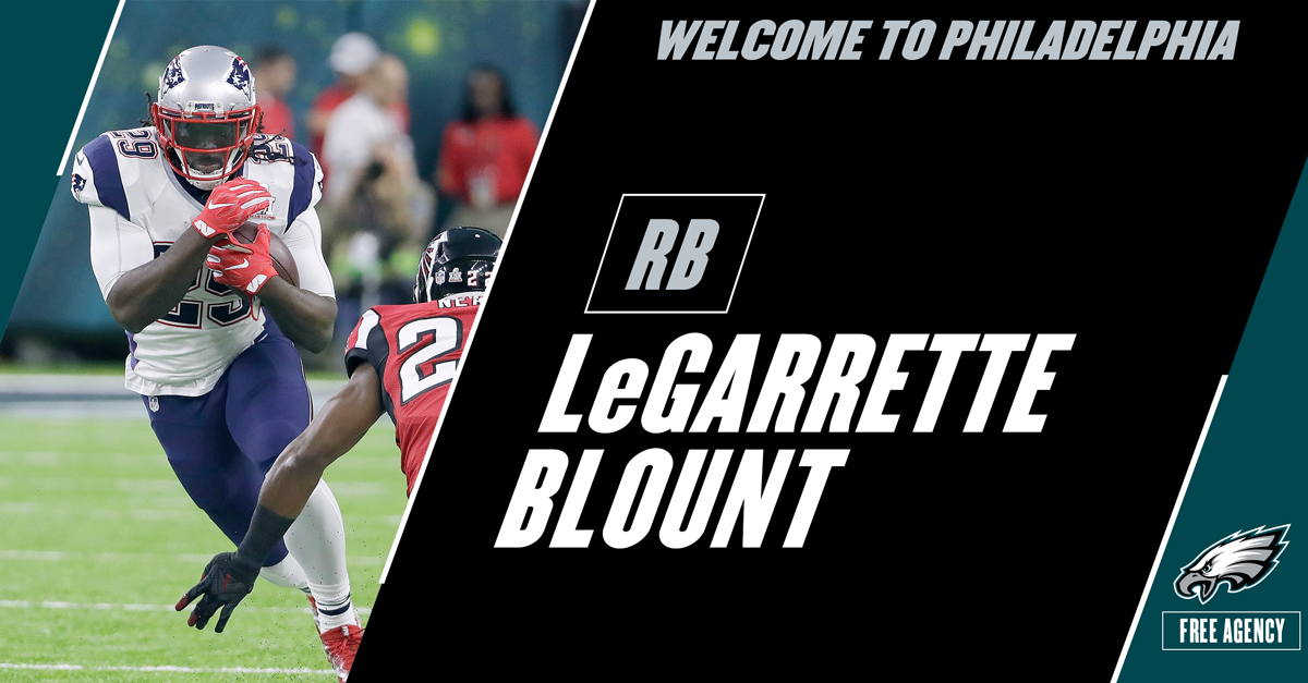 #Eagles and RB LeGarrette Blount agree to terms on a one-year deal. #FlyEaglesFly https://t.co/8m69XCXgGR
