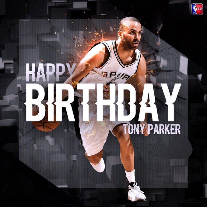Help us wish 4x NBA Champion, 6x All-Star & 2007 Finals MVP, Tony Parker a happy birthday!