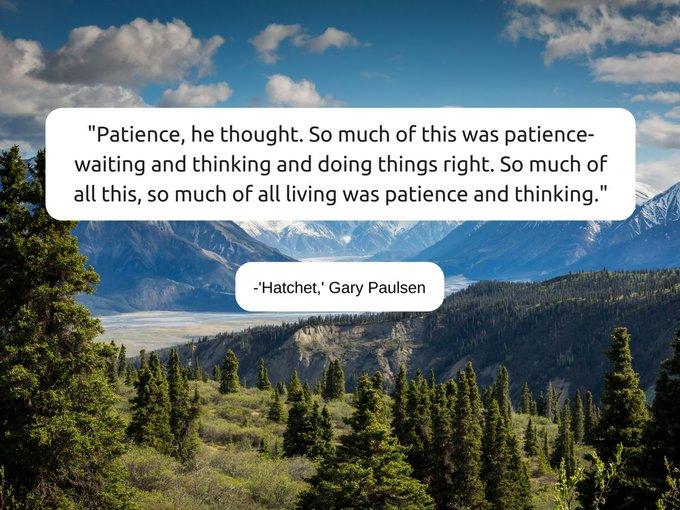Happy birthday to Gary Paulsen, author of \Hatchet.\
