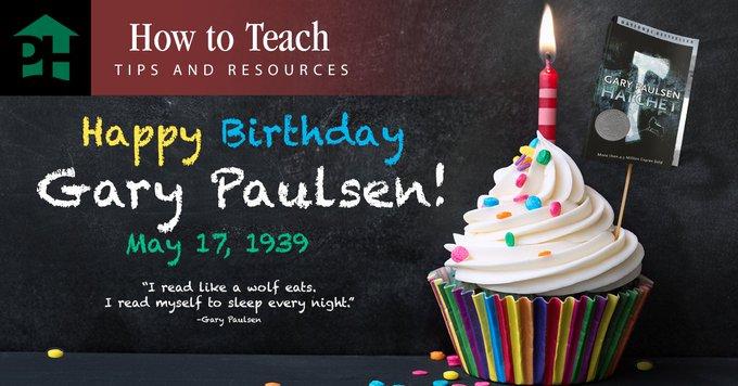 Happy birthday to Gary Paulsen!