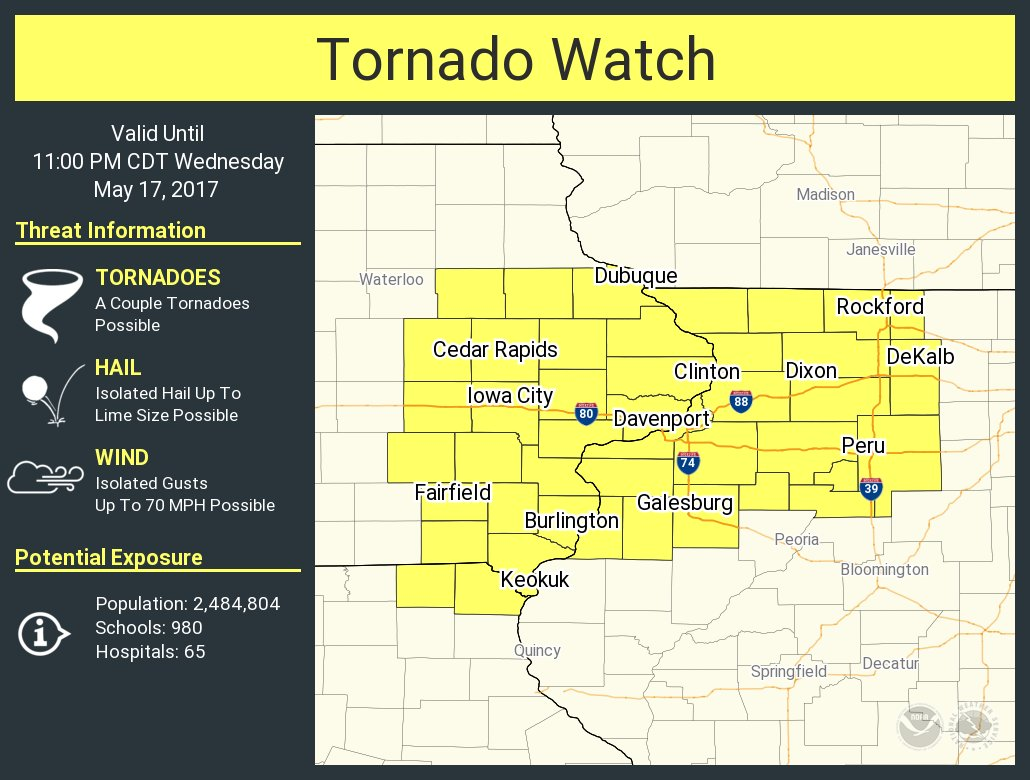Illinois vermilion county armstrong - Rt Nwstornado A Tornado Watch Has Been Issued For Parts Of Illinois Iowa And Missouri Until 11 Pm Cdt Https T Co L093bf8li0