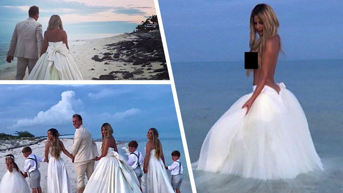Kim zolciak renews her wedding vows and goes topless!!! #tmz ...