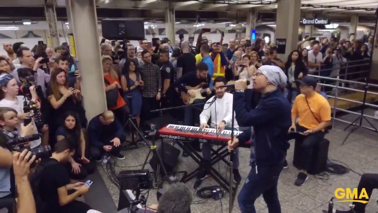 TOMORROW: @linkinpark pops up under NYC's Grand Central Station for a surprise concert! https://t.co/a9A7hhrb8q