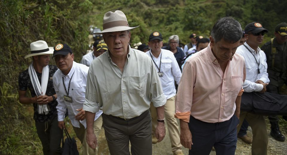 Peace, drugs, and tough love for Colombia's Santos in Washington: