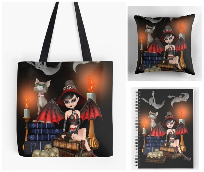With Love for Horror Books: Demon Witch Notebook, Tote Bag & Pillow Giveaway