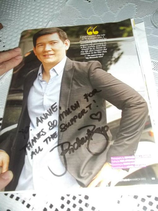 HAPPY BIRTHDAY RICHARD YAP your 1st message to me the 1st time i saw you. I have this magazine with me