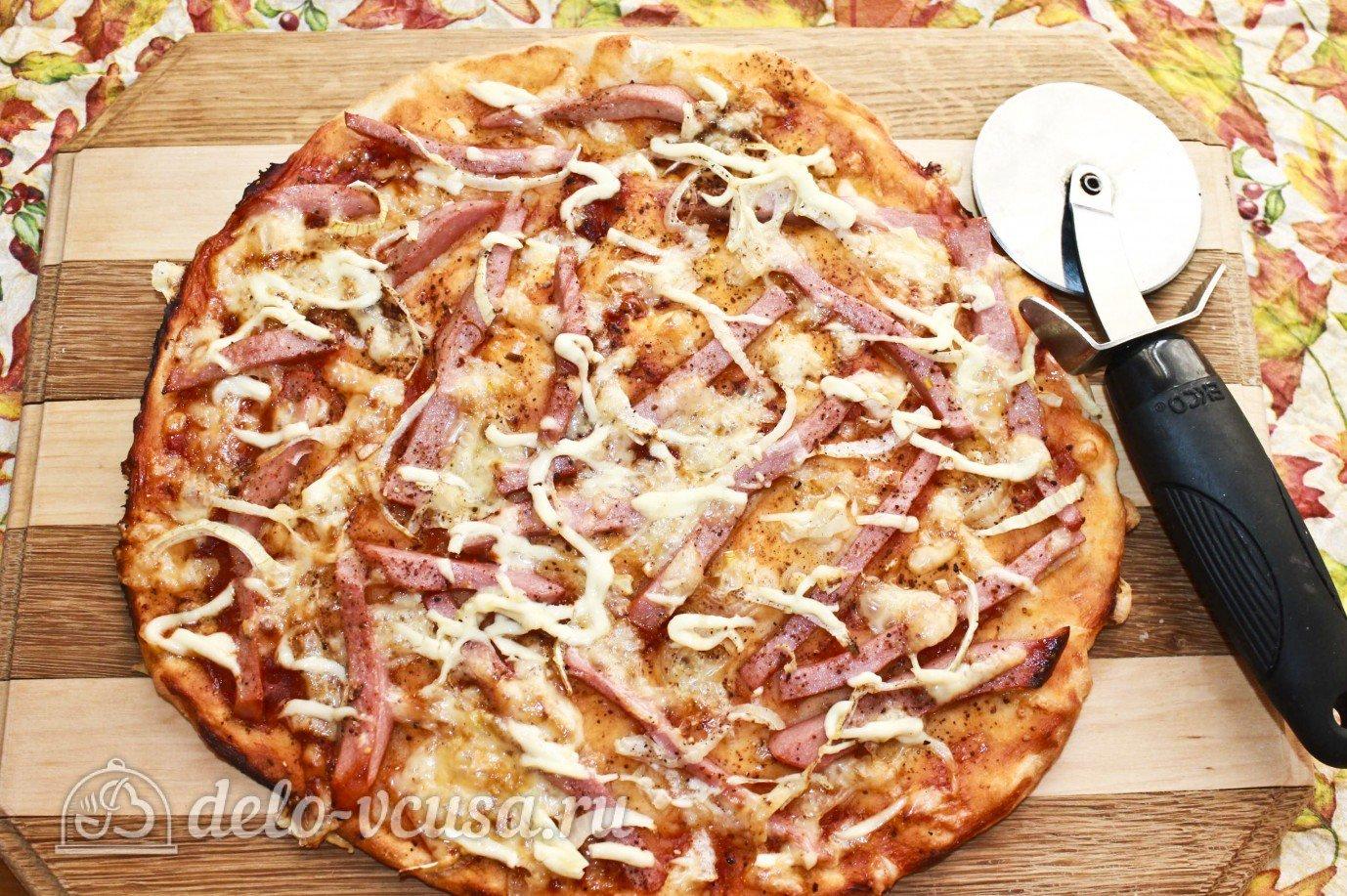 Пицца с вареной колбасой рецепт с фото