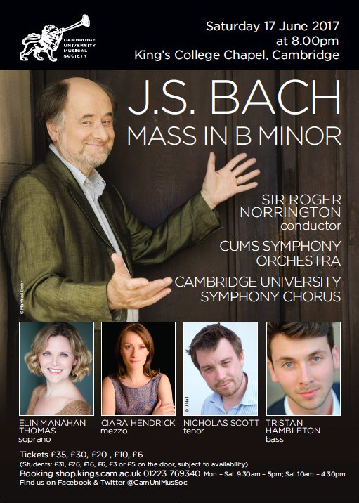 test Twitter Media - The sun is out, summer is on the way & it will soon be time for our May Week Concert! Sir Roger Norrington conducts Bach in King's: https://t.co/0RU8B8miQe
