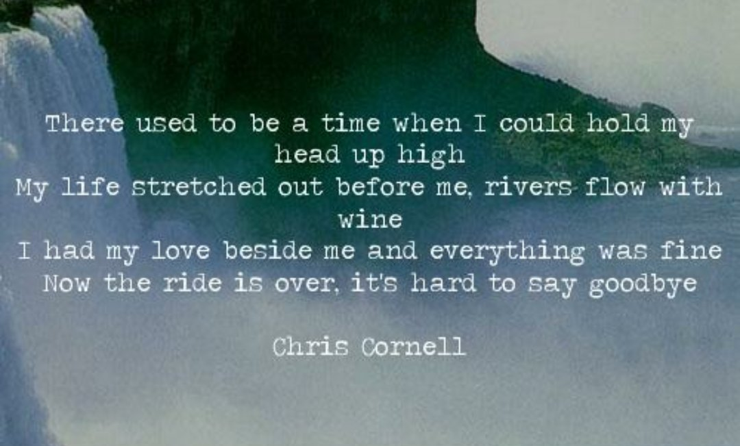As Hope and Promise Fade RIP Chris Cornell https://t.co/LFh0Ci0LT5