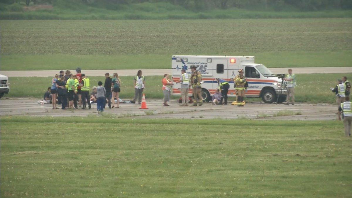 Johnson Co. emergency responders practice for fiery plane crash
