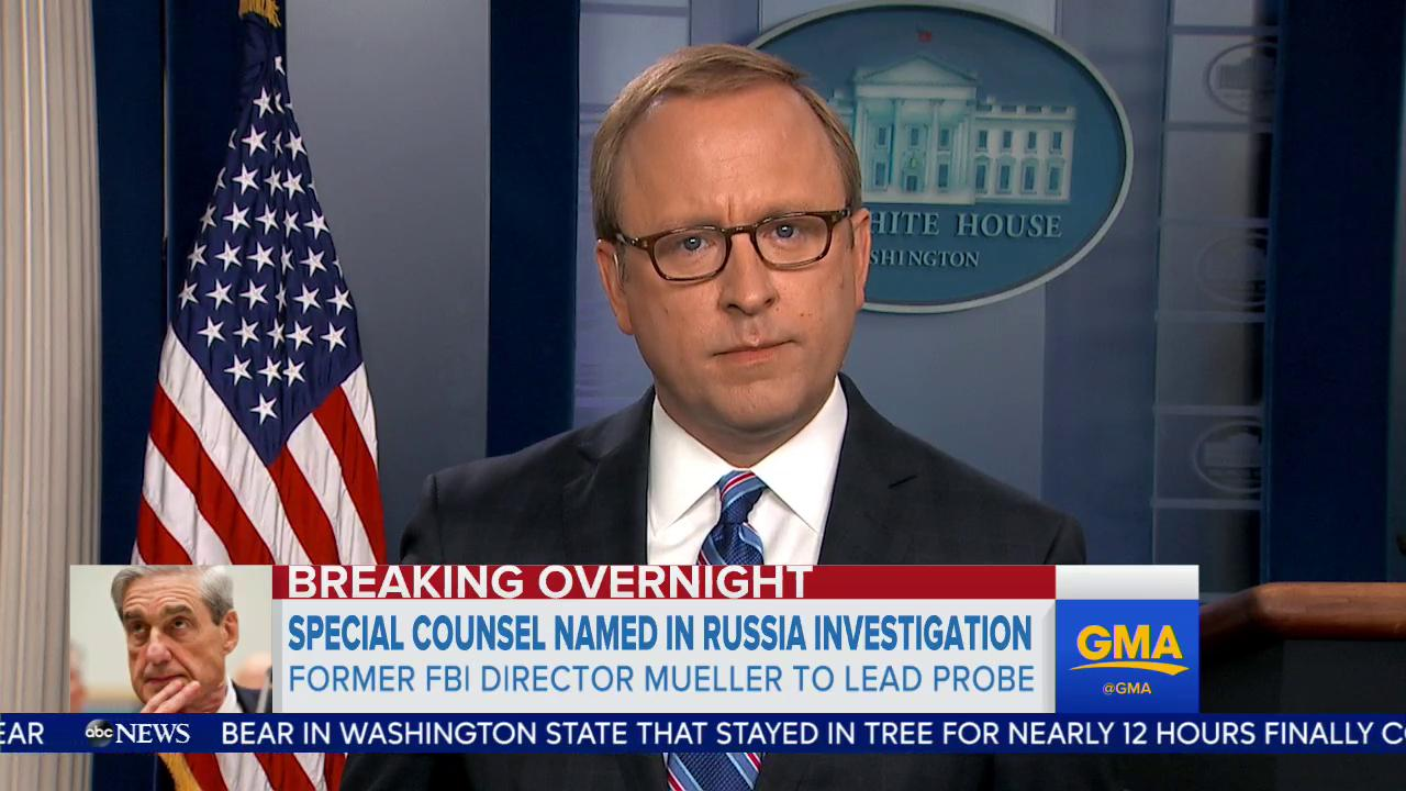 WATCH: 'Right now this is consuming it all.' - @jonkarl on Special Counsel announcement and the White House https://t.co/cF98hGSY43