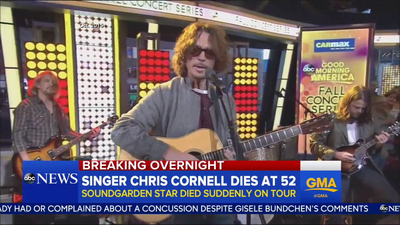 Soundgarden, Audioslave frontman Chris Cornell dead at 52: https://t.co/QSbEU0pTDh https://t.co/8Mux00onqL