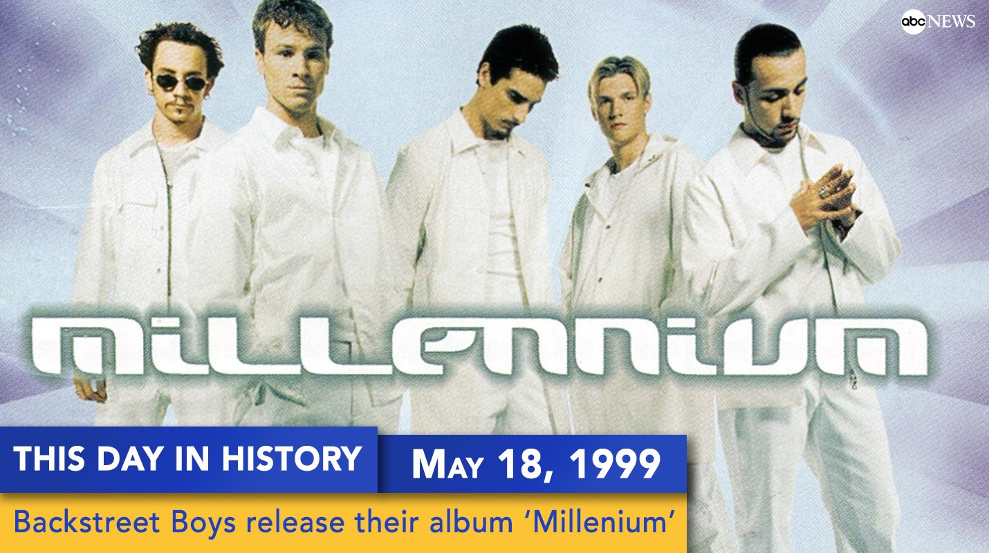 On this day in 18 years ago, the @backstreetboys released their album Millennium. #18YearsOfMillennium https://t.co/Qyu2MiZW9M
