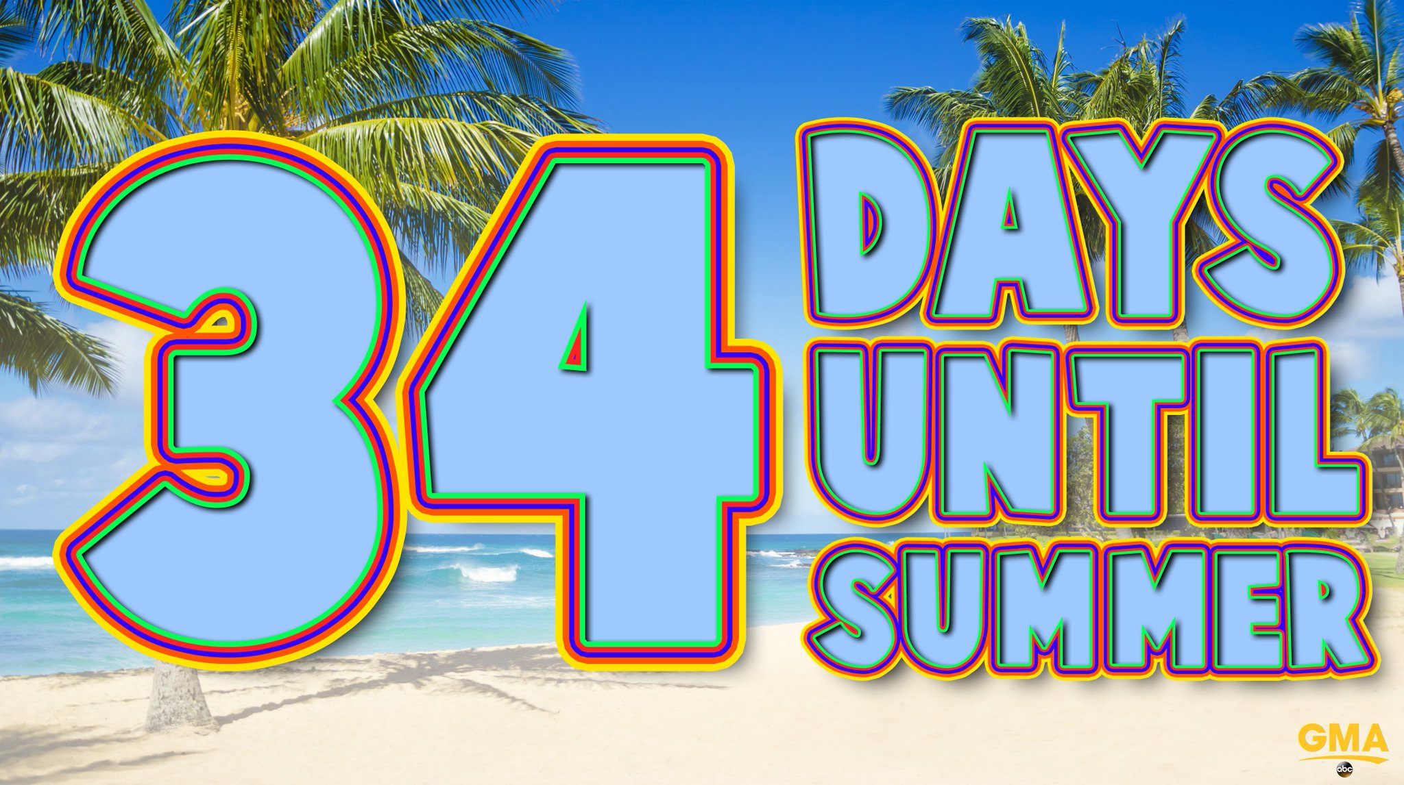 34 days until SUMMER! �� ☀️ https://t.co/CEUsiy9DYt