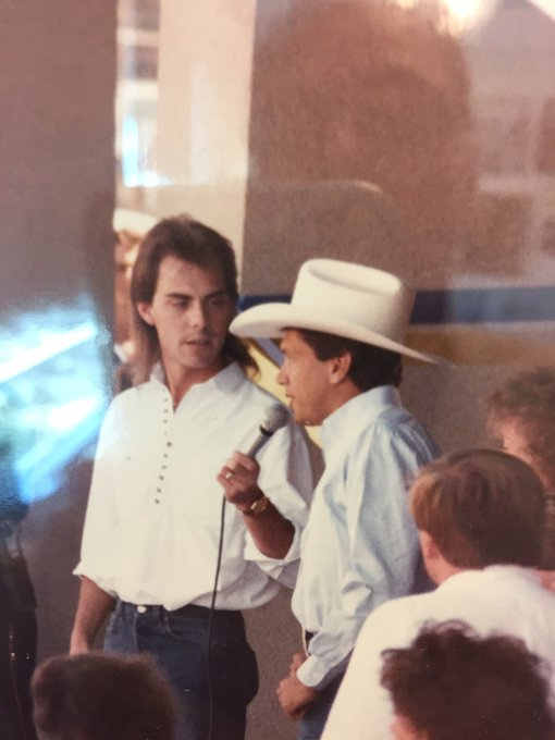 Throwback Dallas in the 80s. Happy Birthday King George Strait! It was an honor to work with you then.