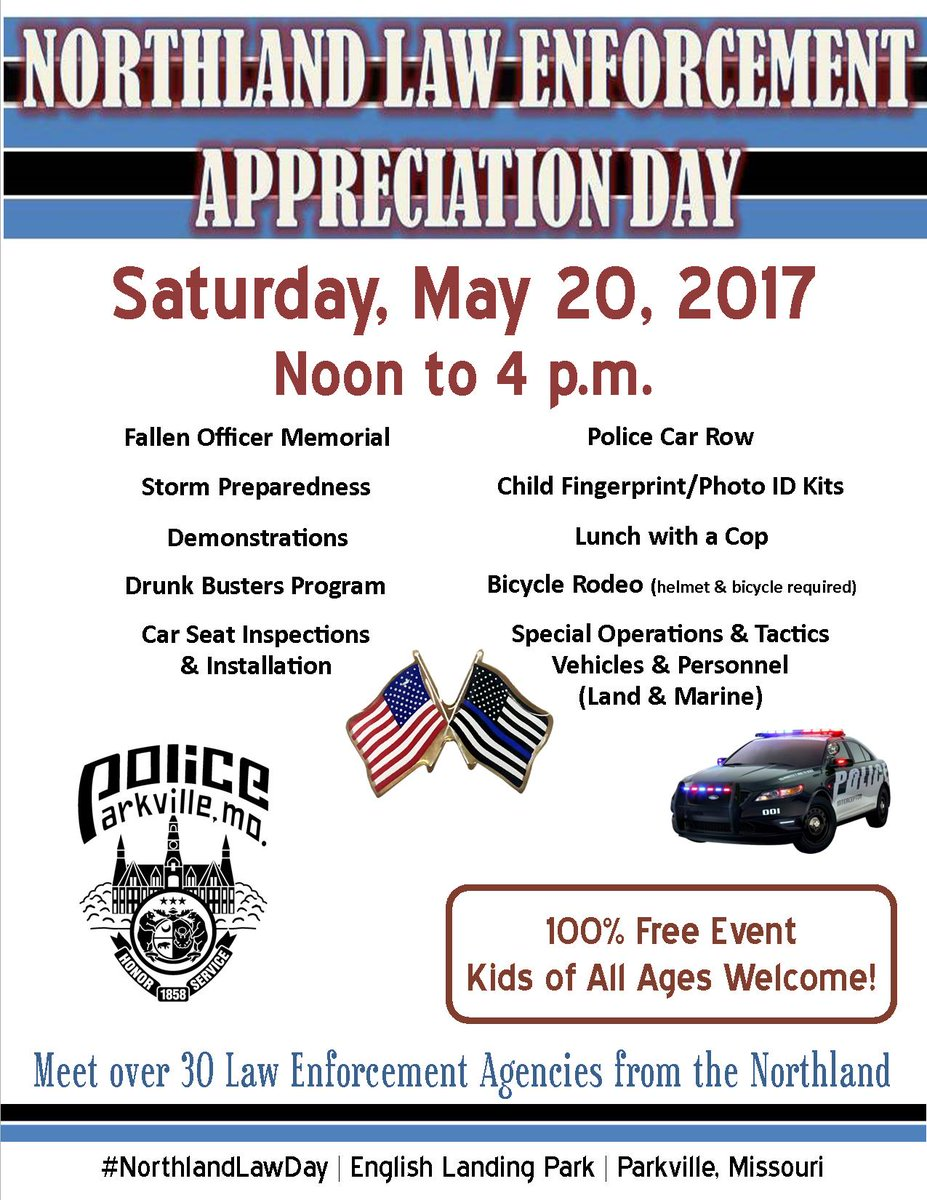 test Twitter Media - Only 2 days left until Northland Law Enforcement Appreciation Day on Saturday  from 12-4 p.m. in English Landing Park. #NorthlandLawDay https://t.co/mFuODUz753
