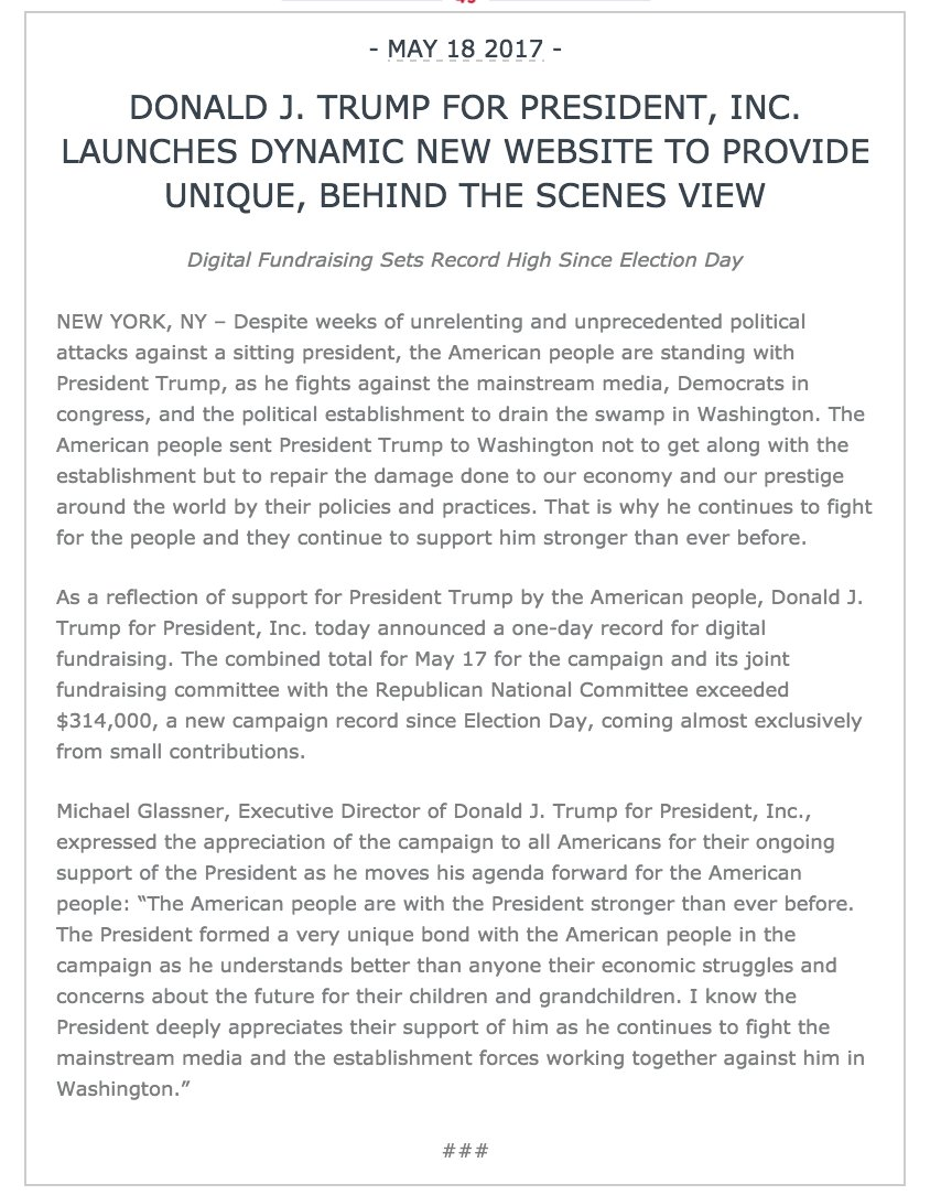 Interesting Trump campaign press release https://t.co/Br83R4OmV9