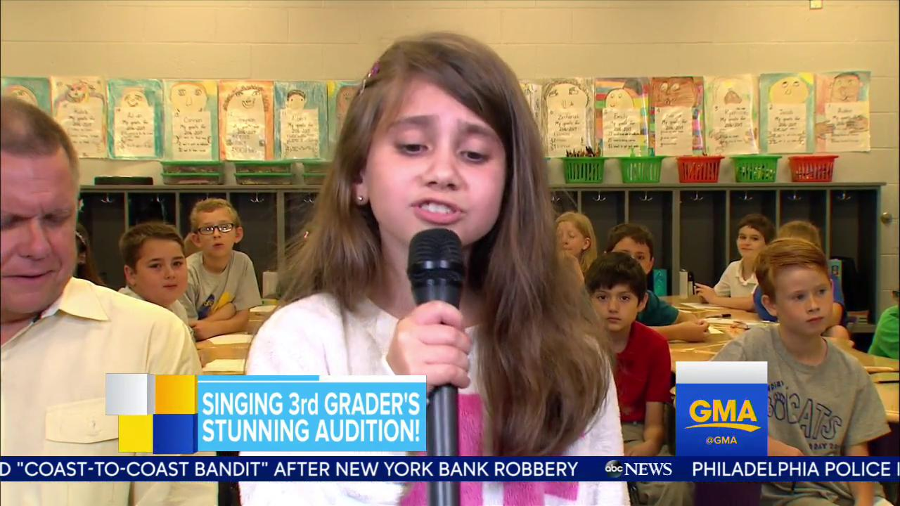 WATCH: Adorable 3rd grader's stunning singing audition wows the internet and she joined us live this morning! https://t.co/iKtRsaTi5E