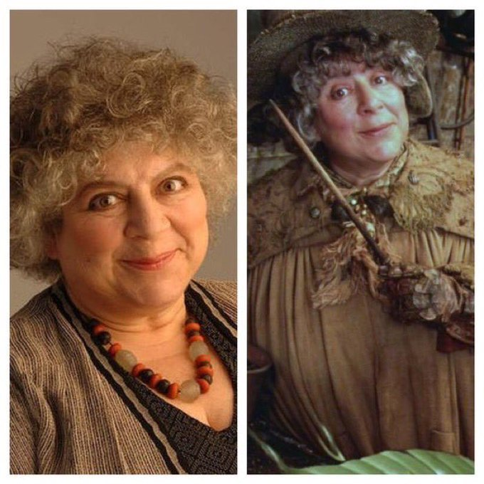 May 18: Happy Birthday, Miriam Margolyes! She played Professor Pomona Sprout in the films.