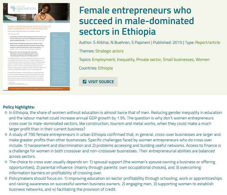 test Twitter Media - Improve education on sector profitability to support women entrepreneurs to move to male-dominated sectors: https://t.co/LKuhYaMz7m https://t.co/VCs67Gh0s8