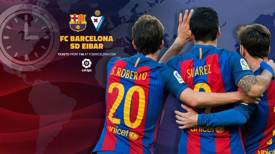 ��⏰�� When and where to watch FC Barcelona v Eibar https://t.co/oG6PReuwbV https://t.co/Dgfa3zNrbT